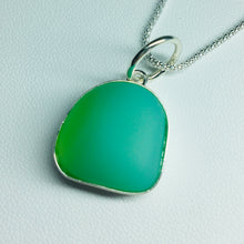 Load image into Gallery viewer, Bezel Set Sea Glass Pendant Necklace