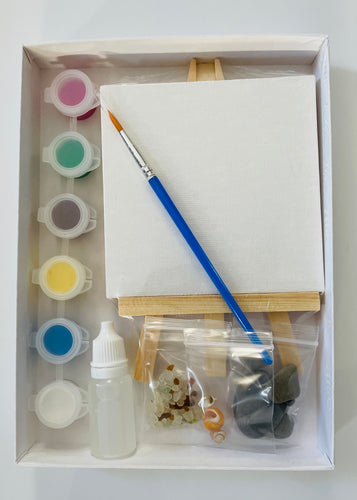 All Included Mixed Media Pebble Art Kit for Kids