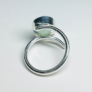 Bezel Set Sea Glass Ring