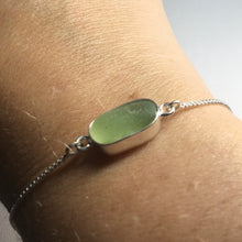 Load image into Gallery viewer, Bezel Set Sea Glass Box Chain Bracelet