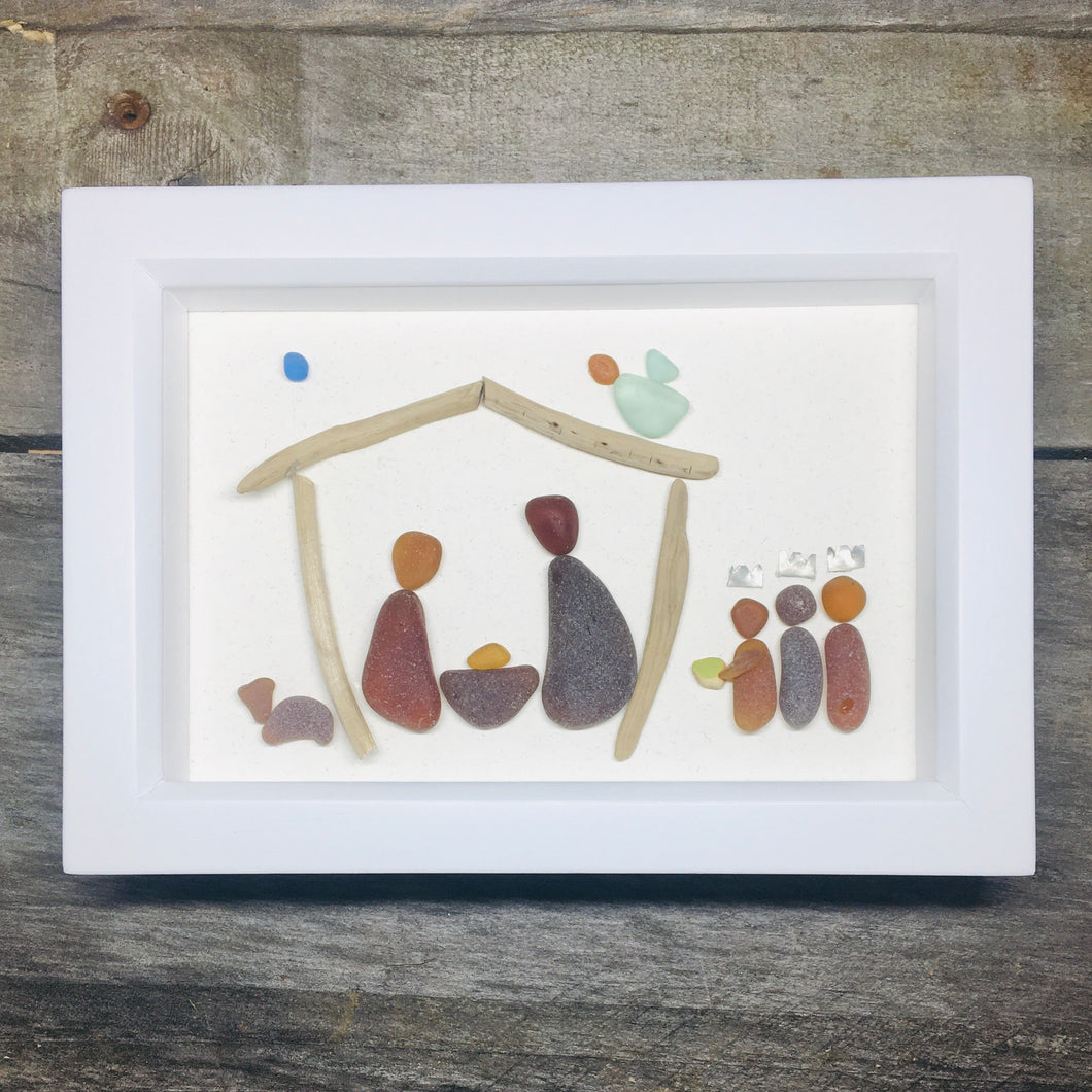 Sea Glass Nativity Scene