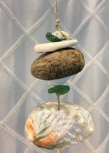 Load image into Gallery viewer, Sea Glass Mobile with Driftwood