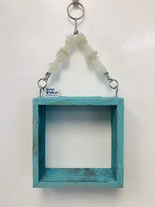 Reclaimed Wood and Sea Glass Shelf