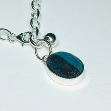 Load image into Gallery viewer, Bezel Set Sea Glass Dangle Bracelet