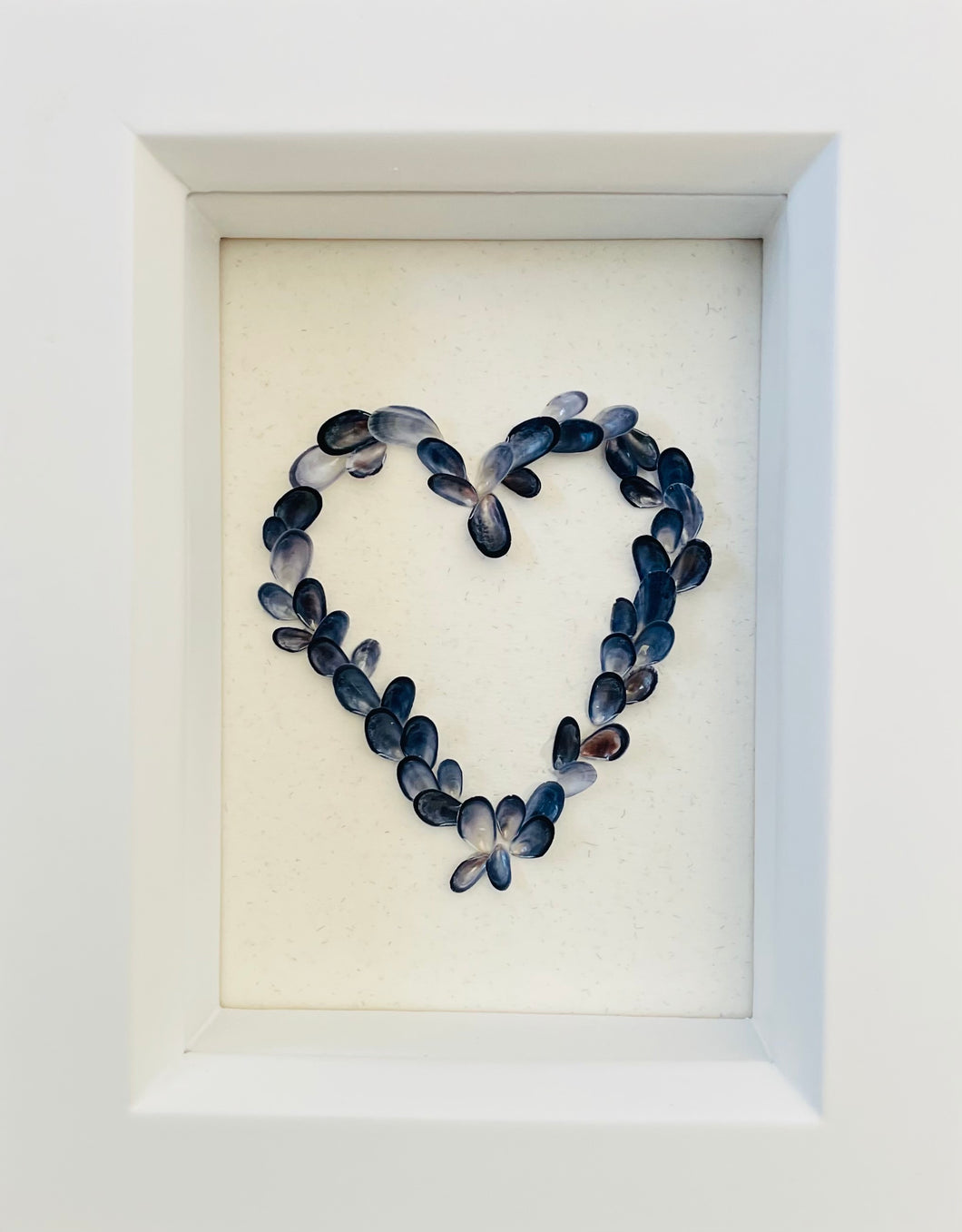 Mini Mussel Shell Framed Heart