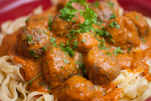 Smokey Cokey Meatballs by Tanya