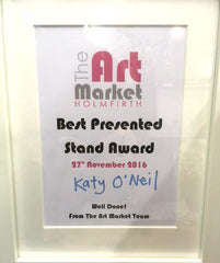 Best Presented Stall Award at The Art Market, Holmfirth