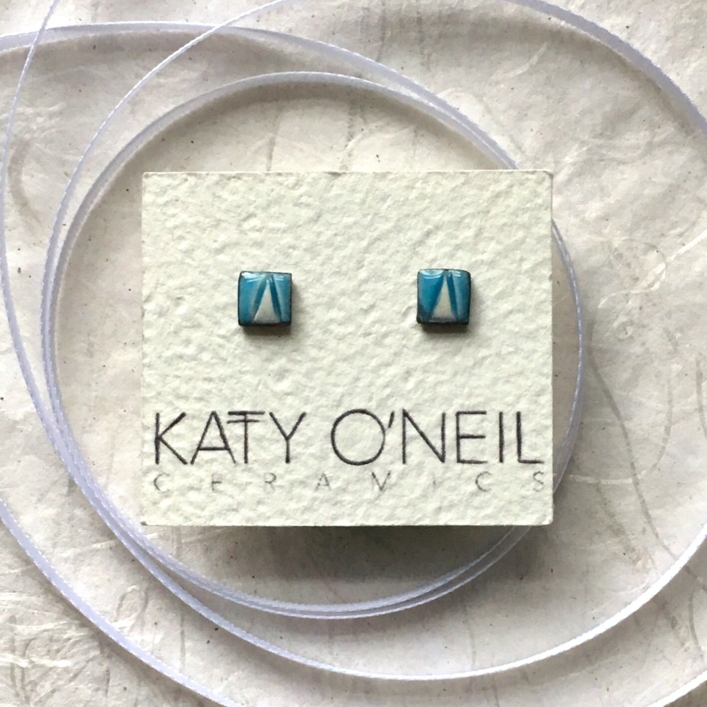 Tiny Square Earrings 6