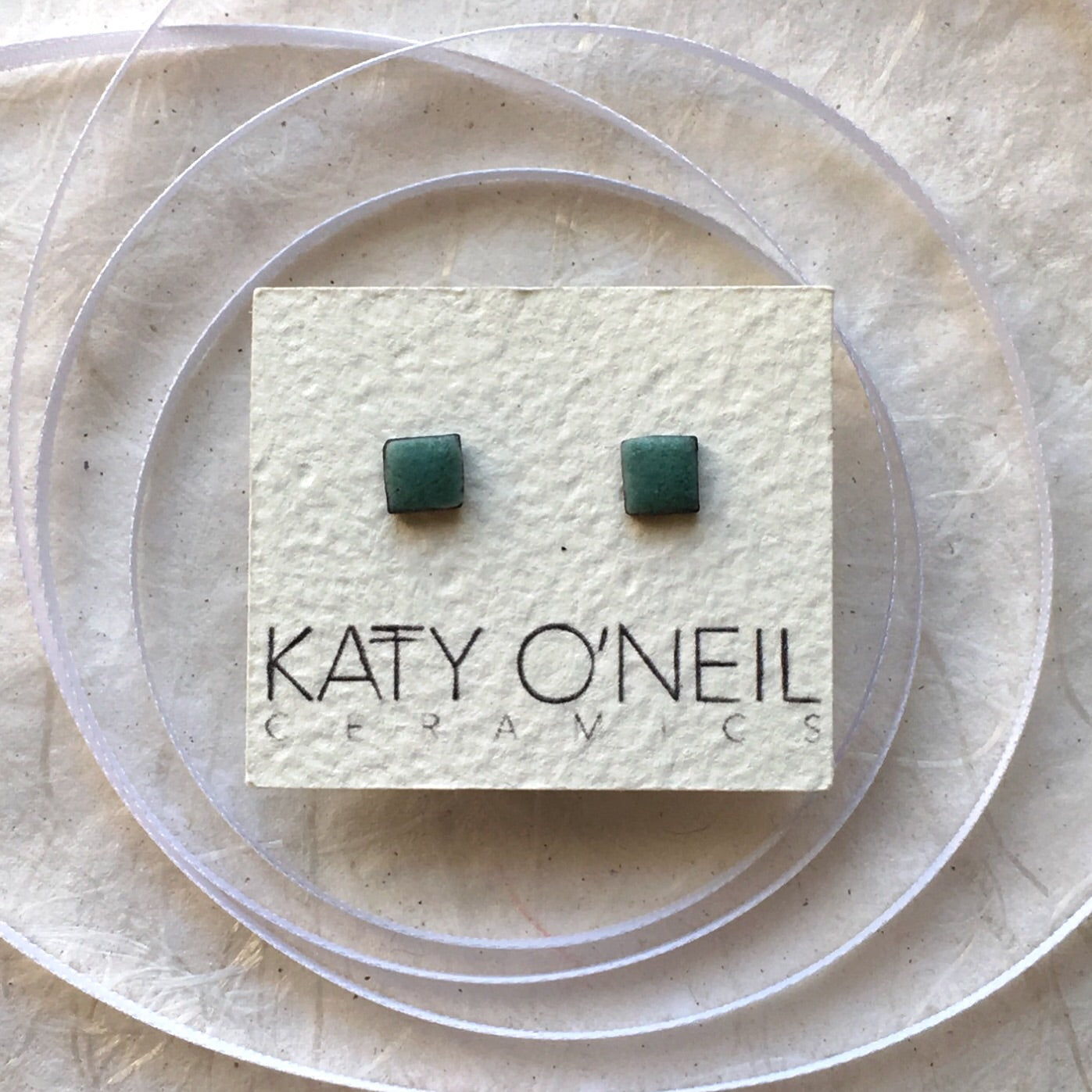 Tiny Square Earrings 7