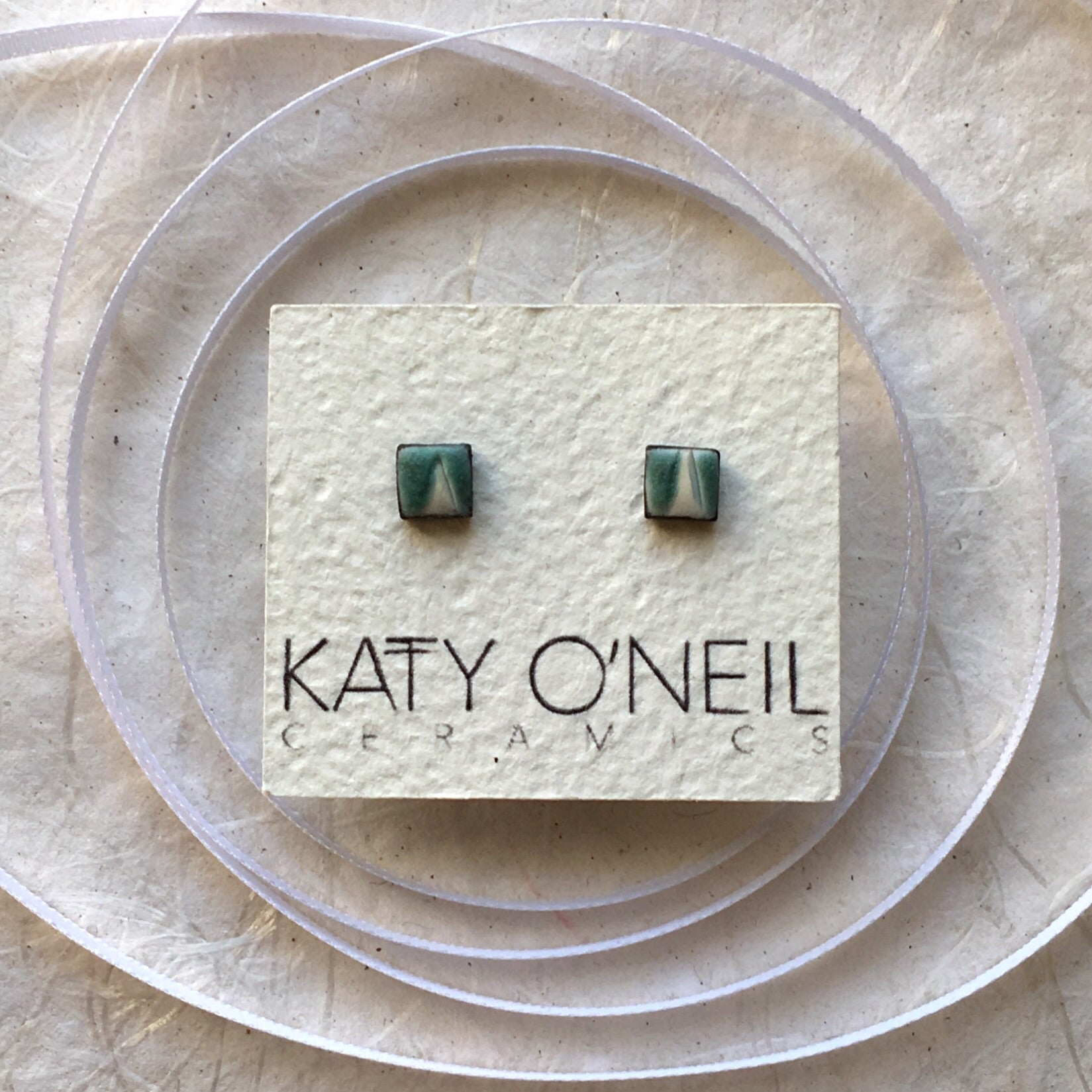 Tiny Square Earrings 8