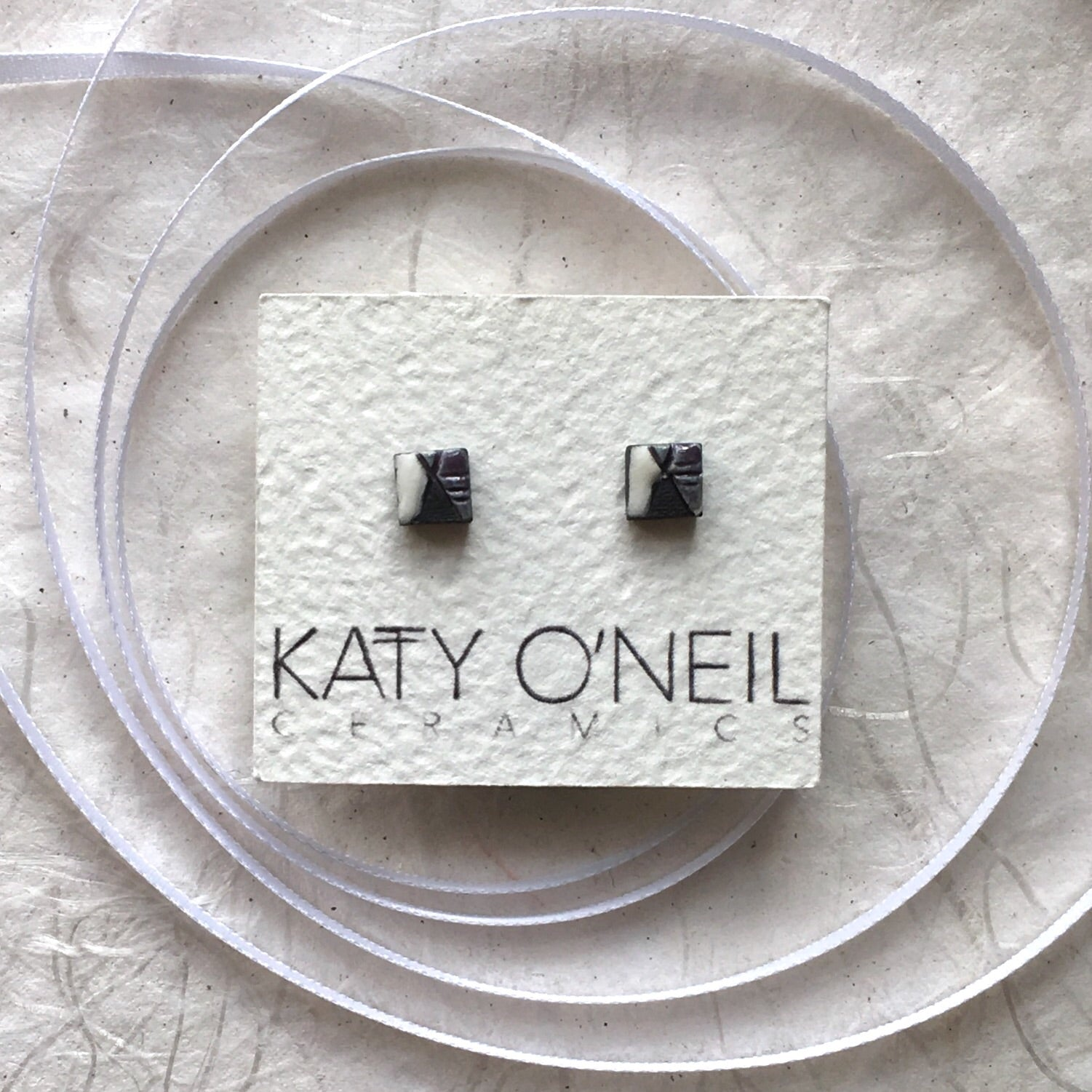 Tiny Square Earrings 4