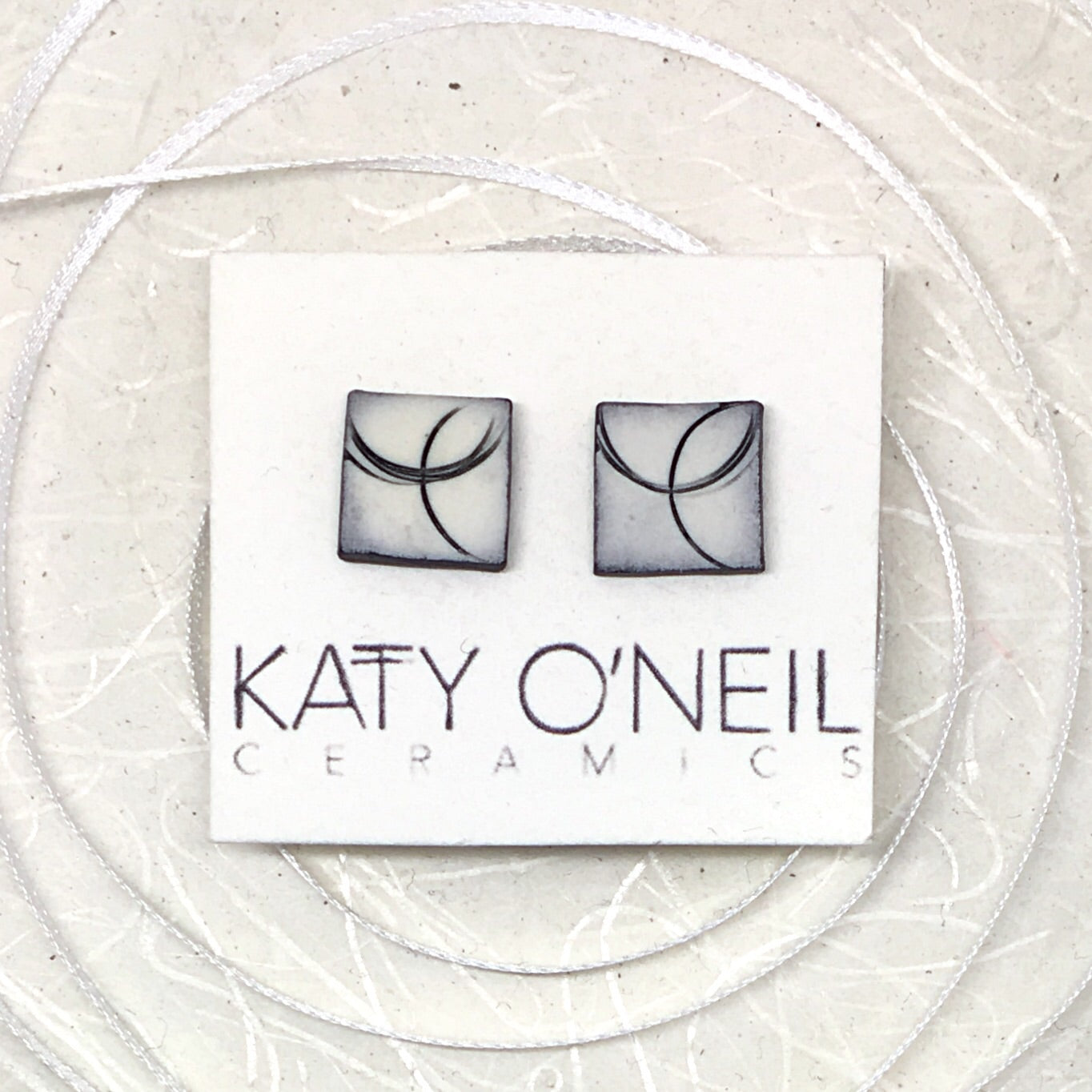 Medium Square Earrings 12