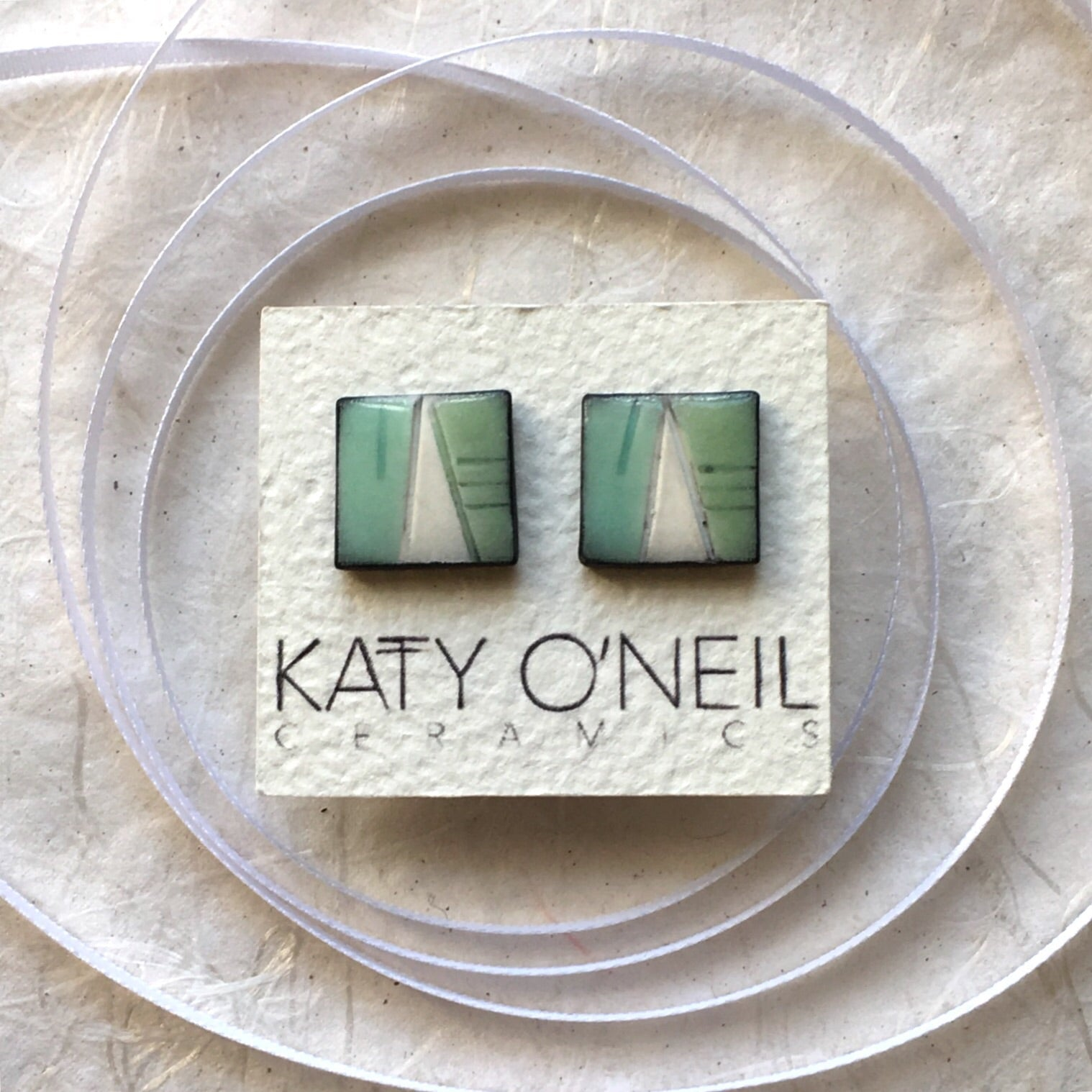 Large Square Earrings 3