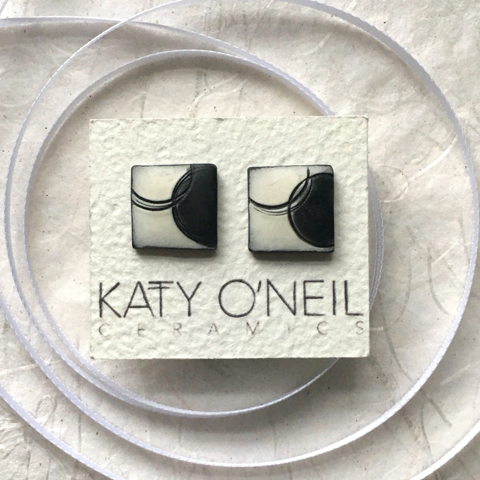Large Square Earrings 1
