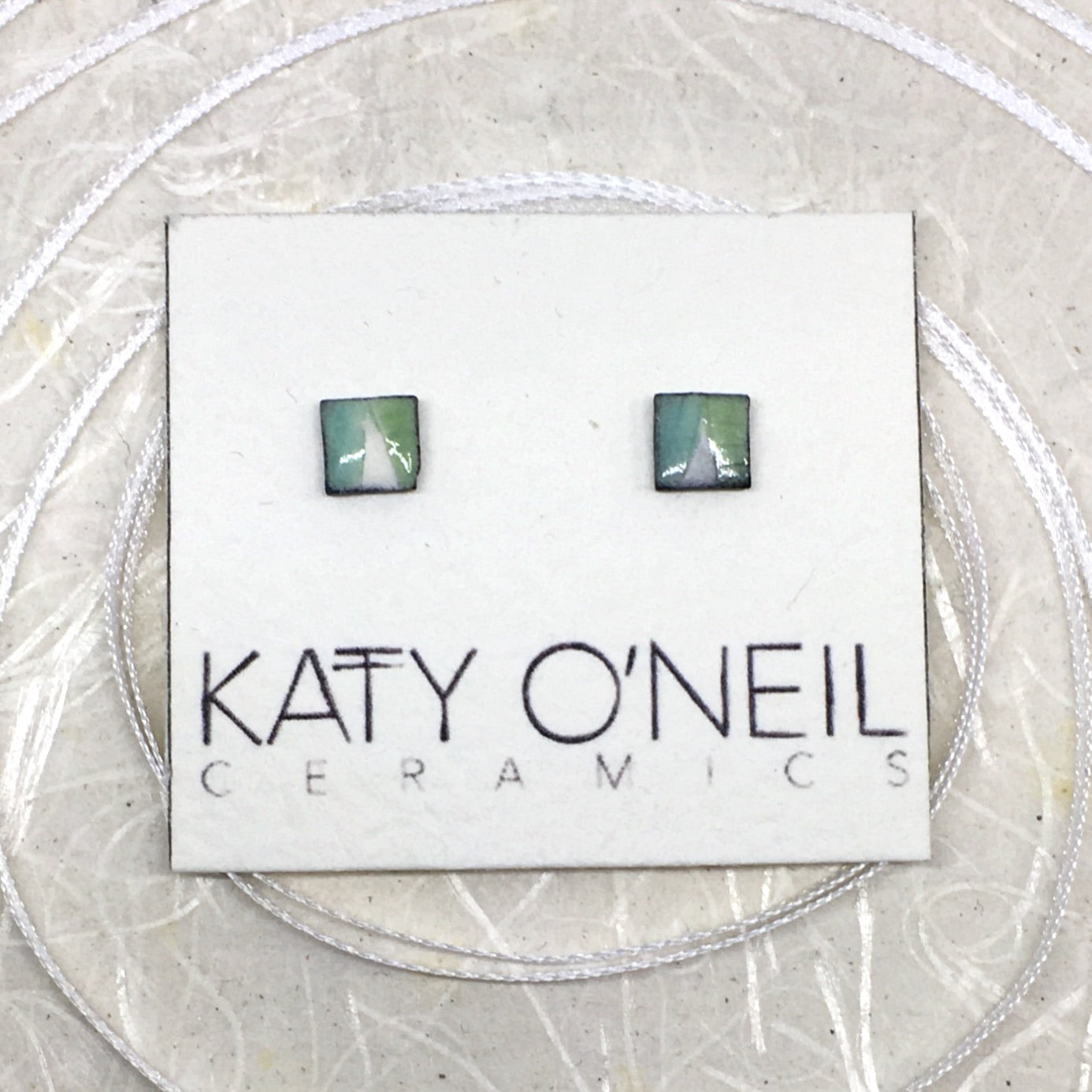 Tiny Square Earrings 3