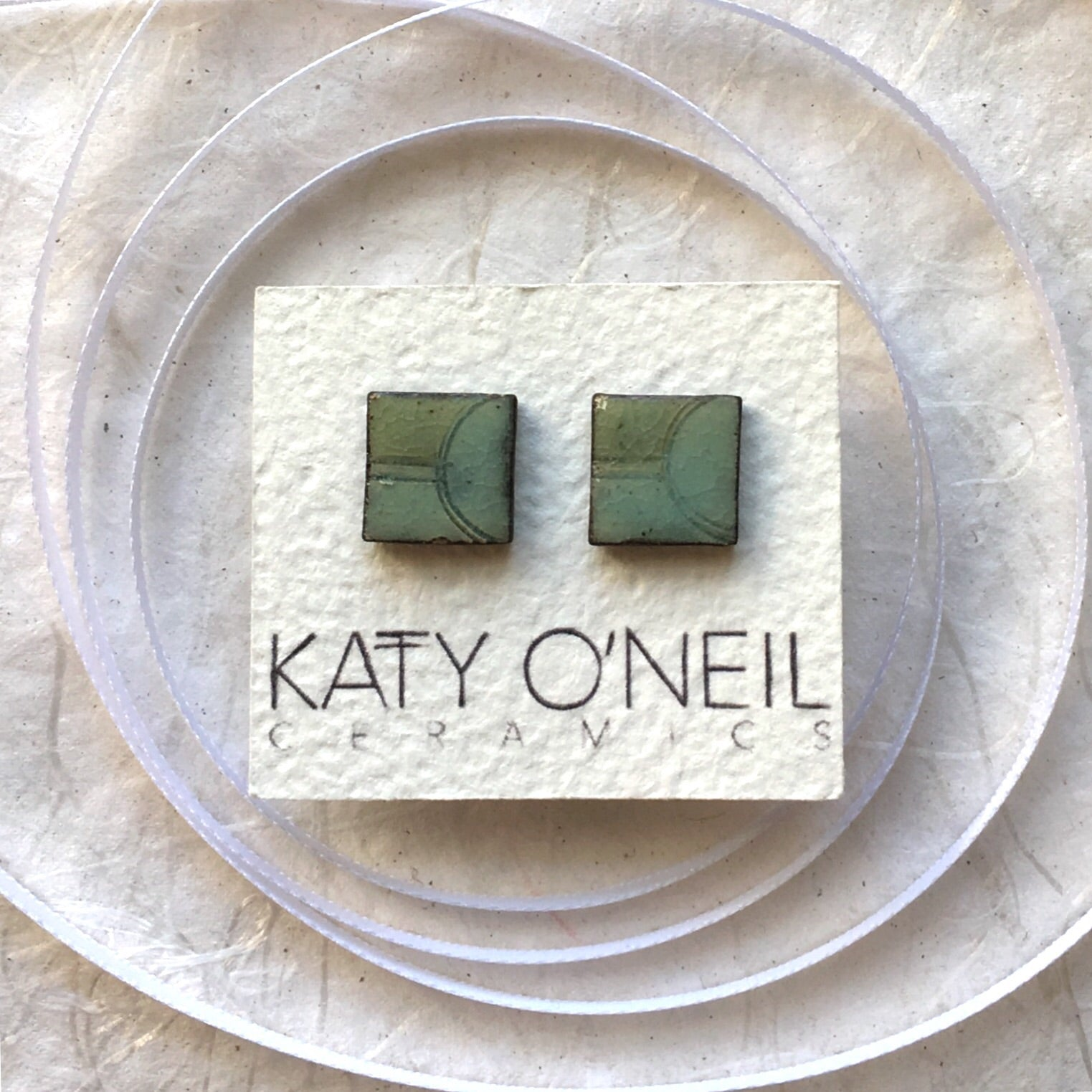 Medium Square Earrings 2