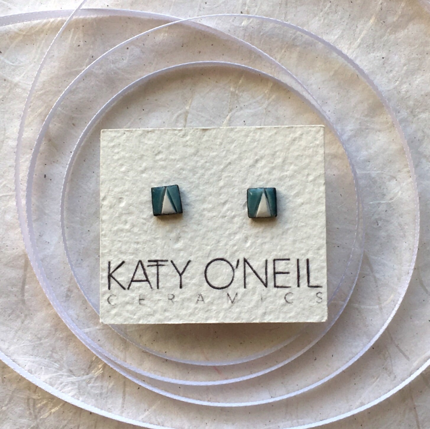 Tiny Square Earrings 9