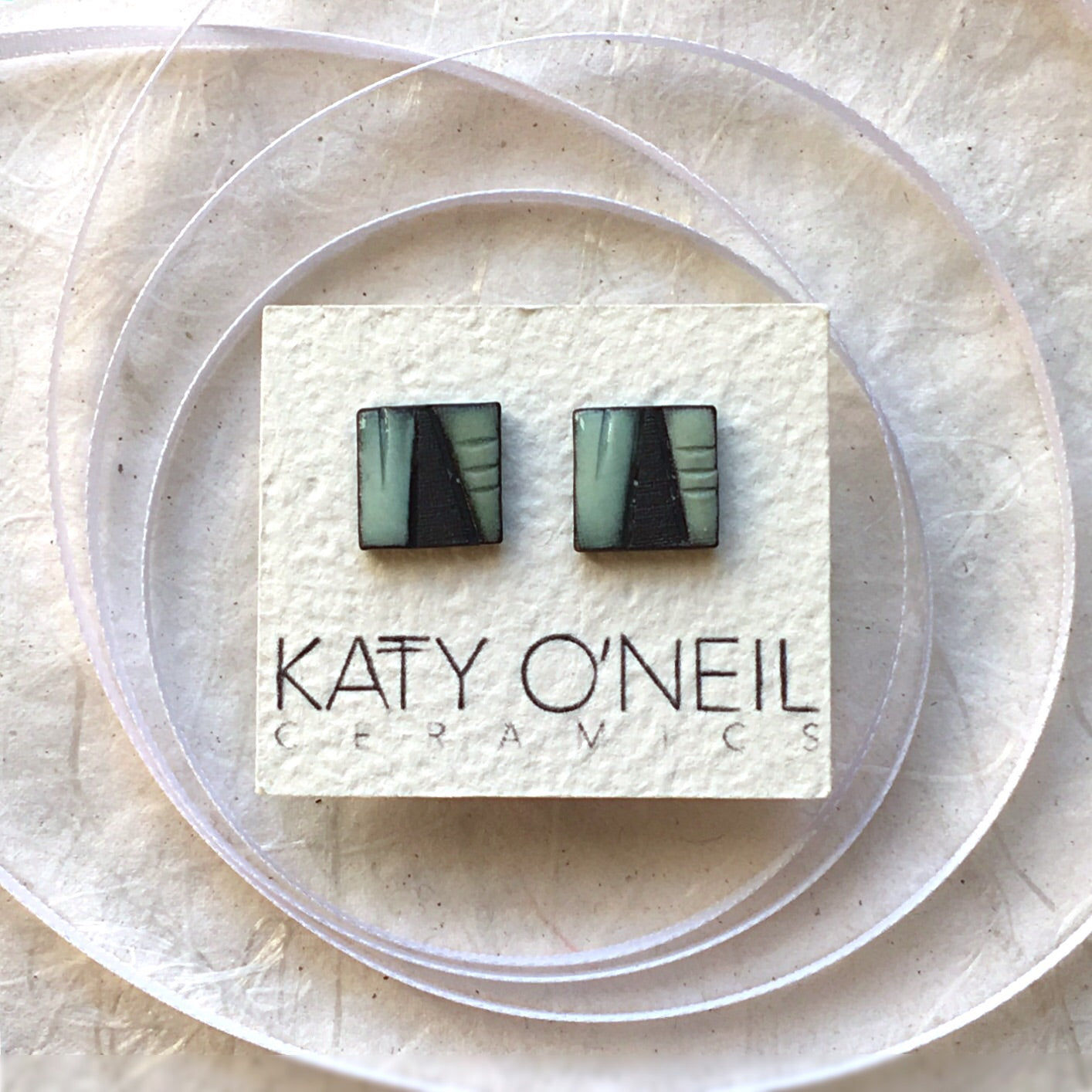 Medium Square Earrings 4