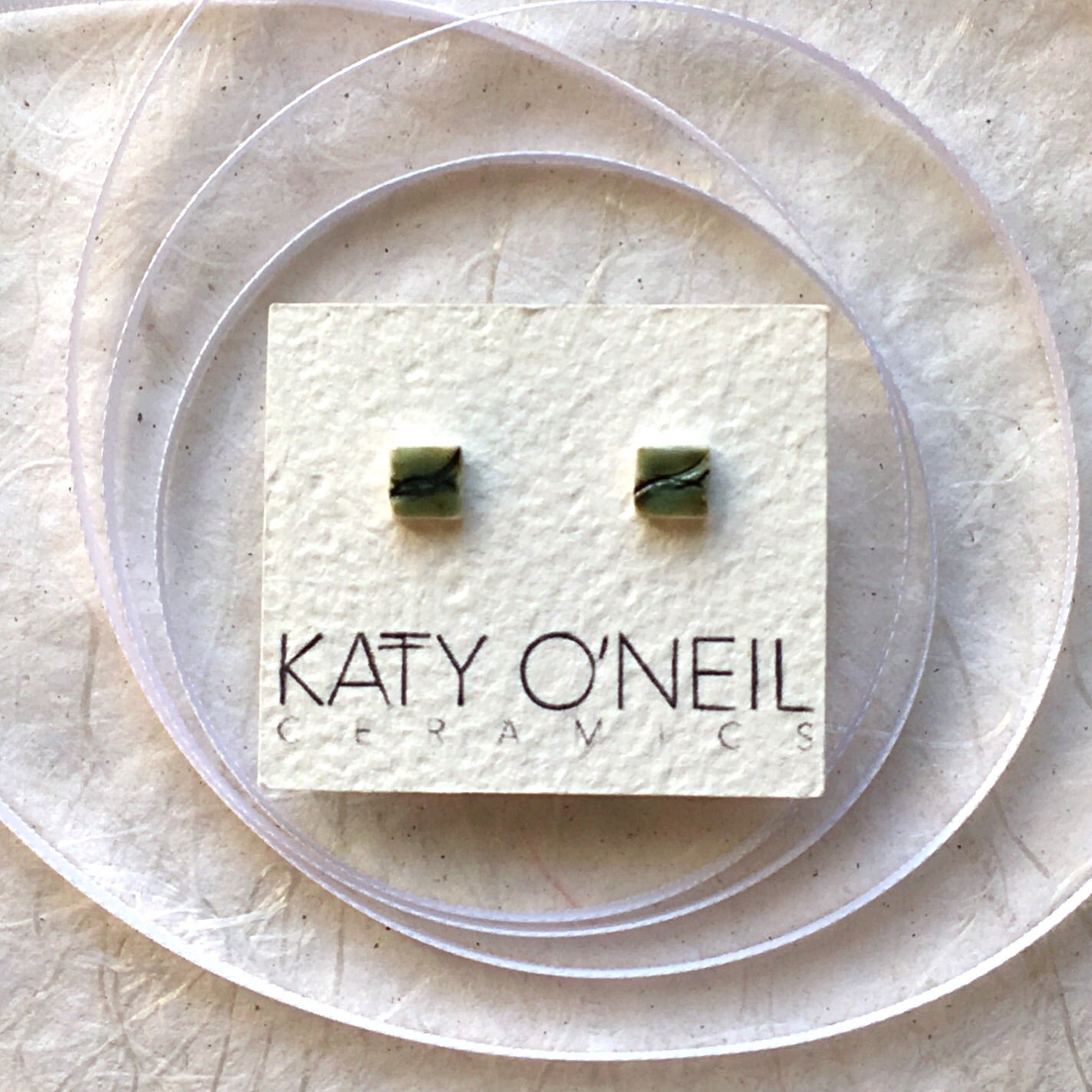 Tiny Square Earrings 34