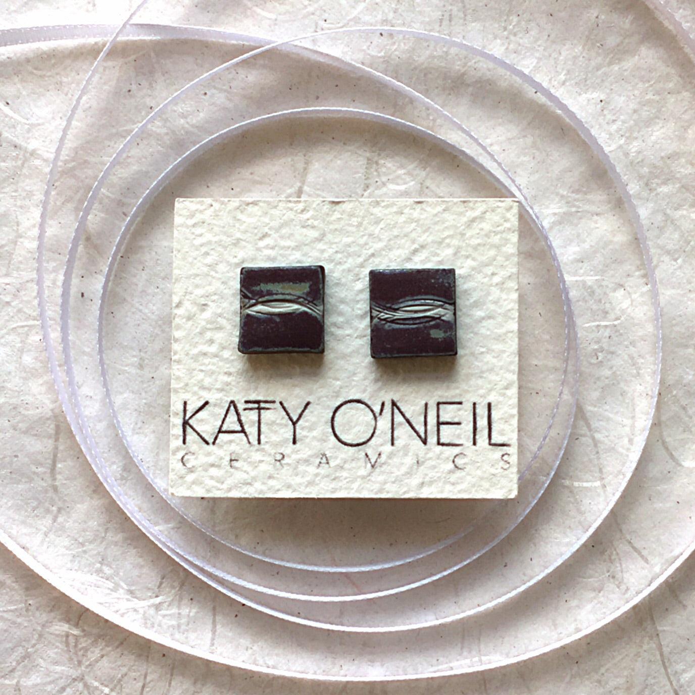 Medium Square Earrings 6