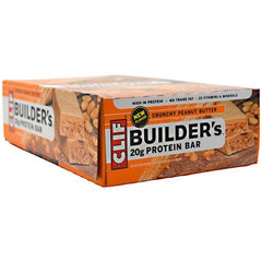 Clif Builders Protein Bar - Crunchy Peanut Butter - 12 Bars - 722252600486