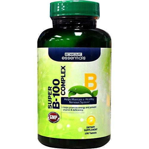 Betancourt Nutrition Betancourt Essentials Super B-100 Complex - 100 Tablets - 857487003976