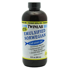 TwinLab Cod Liver Oil - Lemon - 12 oz - 027434031615