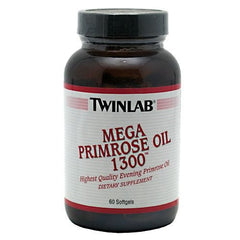 TwinLab Mega Primrose Oil 1300 - 60 Softgels - 027434006675