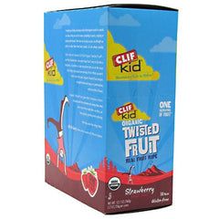 Clif Kid Organic Twisted Fruit - Strawberry - 18 ea - 722252380012