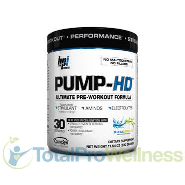 Pump-HD Ultimate Pre-Workout Formula Blue Ice Lemonade 11.64 Ounce