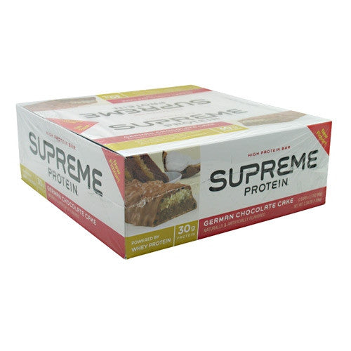 Supreme Protein Supreme Protein Bar - German Chocolate Cake - 12 Bars - 639372126027