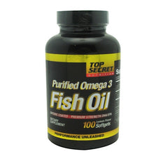 Top Secret Nutrition Fish Oil - 100 softgels - 100 Servings - 811226020457