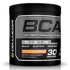 BCAA Supplement, Tropical Punch, 30 Servings, 9.52 Ounce