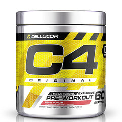 C4 Pre Workout Fruit Punch- 60 Servings