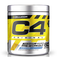 C4 Pre Workout Icy Blue Razz- 60 Servings