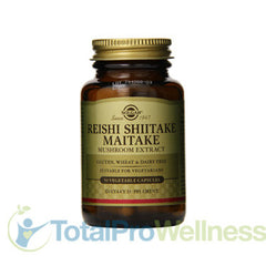 Reishi Shiitake Maitake Mushroom Extract Vegetable Capsules, 50 Count