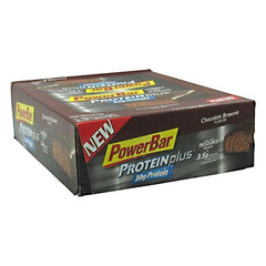 PowerBar ProteinPlus High Protein Bar - Chocolate Brownie - 12 Bars - 097421460506