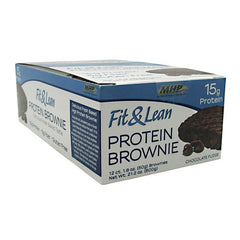 MHP Fit & Lean Protein Brownie - Chocolate Fudge - 12 ea - 666222094694