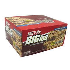 MET-Rx Big 100 Colossal - Chocolate Chip Cookie Dough - 9 Bars - 786560557092