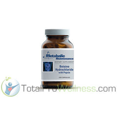 Betaine Hydrochloride with Pepsin - 100 Caps