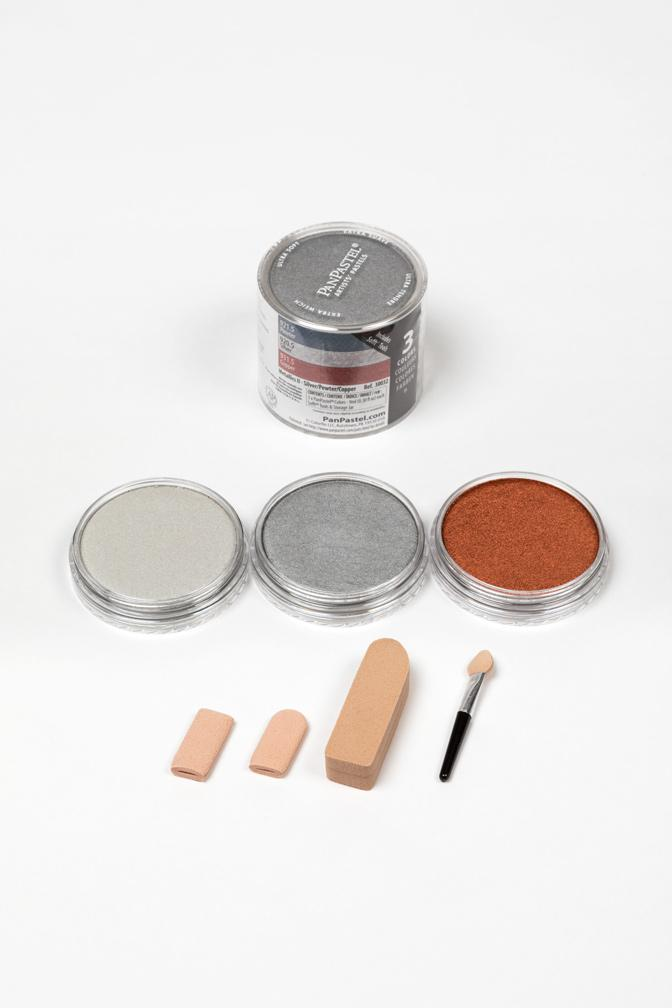 Metallics Set - Silver/Pewter/Copper  (3 Color)