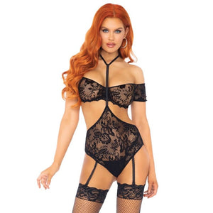 LEG AVENUE SET DOS PIEZAS TOP Y TEDDY