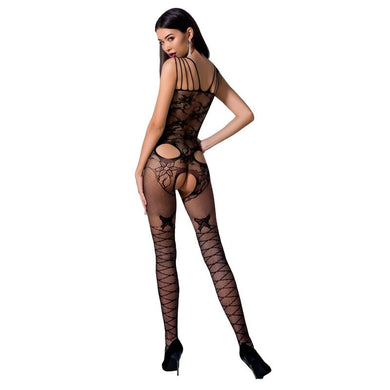 PASSION WOMAN BS076 BODYSTOCKING TALLA UNICA NEGRO
