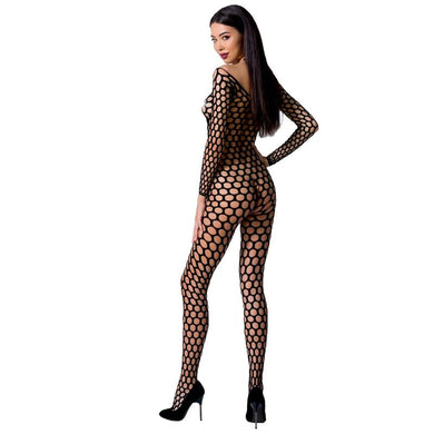 PASSION WOMAN BS077 BODYSTOCKING TALLA UNICA NEGRO