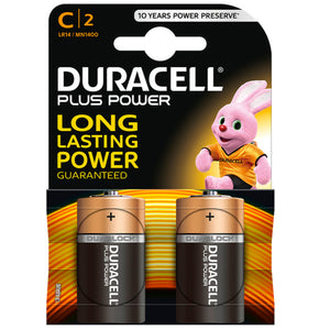 DURACELL PLUS POWER PILA ALCALINA C LR14 BLISTER2