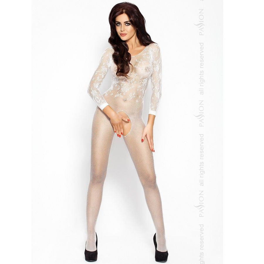 PASSION EROTICLINE CATSUIT BLANCO BS007