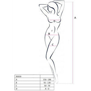 PASSION WOMAN BS018 BODYSTOCKING NEGRO TALLA UNICA
