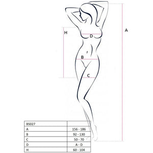 PASSION WOMAN BS027 BODYSTOCKING ESTILO VESTIDO NEGRO TALLA UNICA