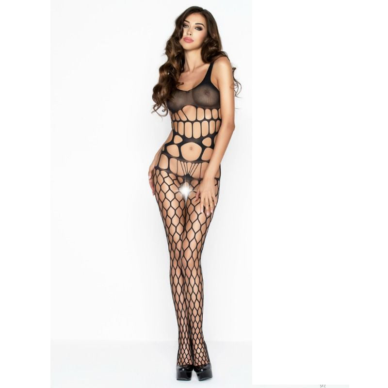 PASSION WOMAN BS032 BODYSTOCKING NEGRO TALLA UNICA