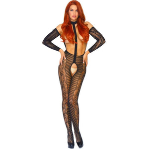 LEG AVENUE BODYSTOCKING DE ENCAJES TU